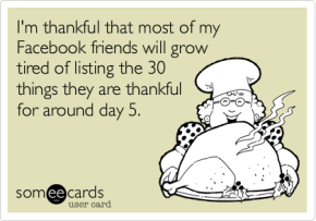 Are You Thankful for Facebook?